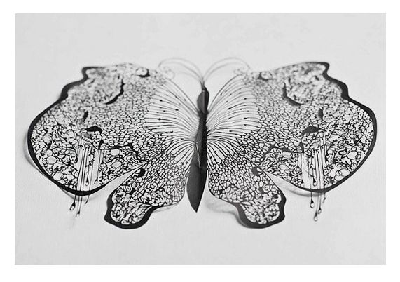 'Papillon' (scissor cuts) by Hina Aoyama