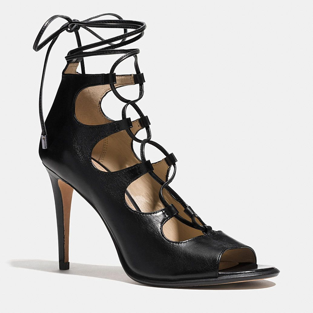 06f34e9f3f5 Stiletto heels and alluring cutouts add drama to a ghillie-inspired lace-up  silhouette