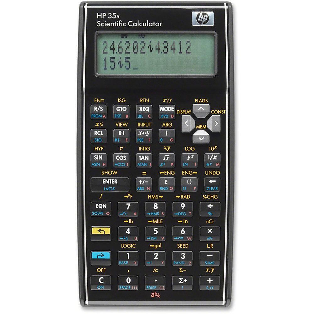 Hp 35s Scientific Calculator 100 Functions Independent Memory Keystroke Programming Power Off Memor Scientific Calculators Calculator Graphing Calculator