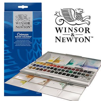 Details About Winsor And Newton Cotman 45 Half Pan Watercolour Set