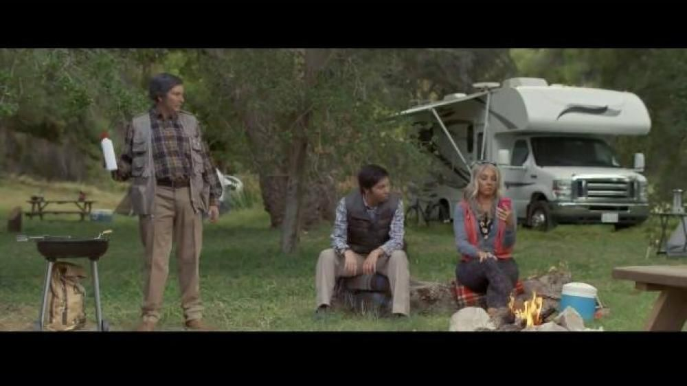 Flo S Family All Of Whom Are Played By Stephanie Courtney Hit The Great Outdoors For A Camping Trip As Everybody S Progress Tv Commercials Compare Insurance