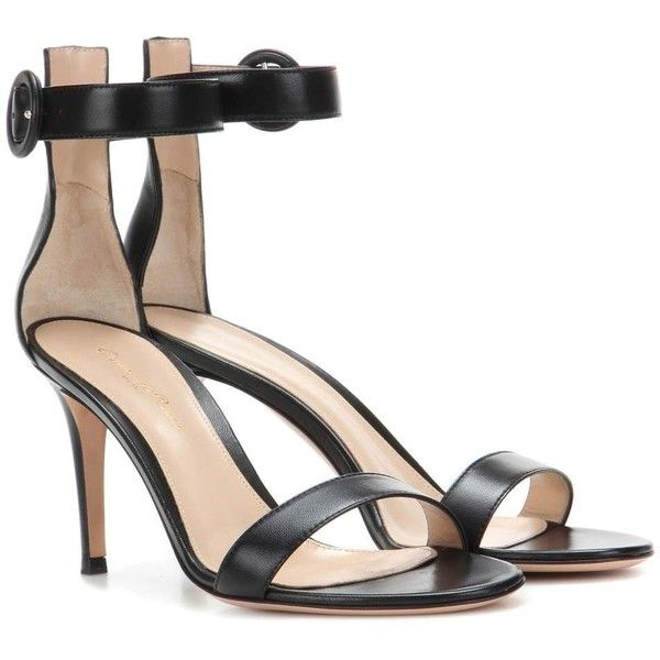 ee1cf9580 Gianvito Rossi Portofino 85 Leather Sandals (1 050 AUD) ❤ liked on Polyvore  featuring shoes