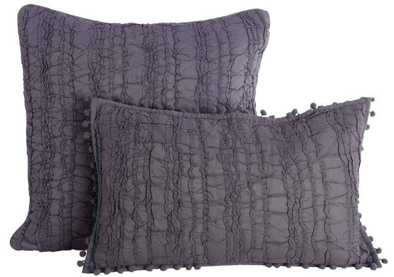 Kudde, Grå 30x50 Textur - Lilla Orangeriet