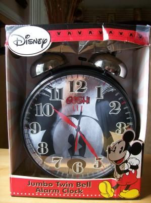 Disney Mickey Mouse Oversized Twin Bell Alarm Clock