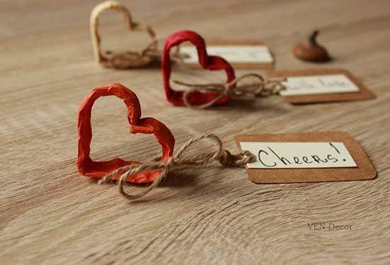 segnaposto matrimonio di carta