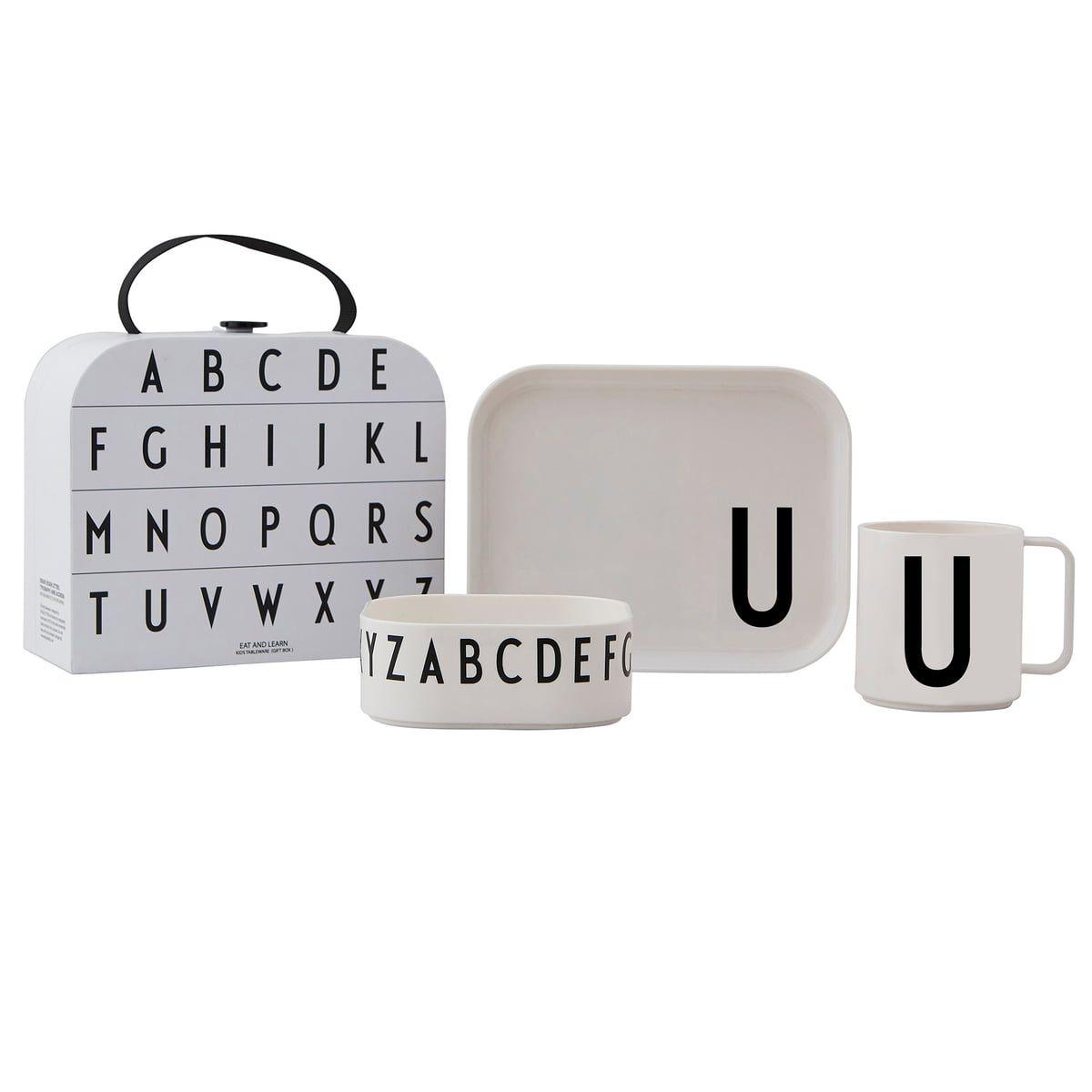 Kindergeschirr-Set inkl. Koffer von Design Letters   Connox