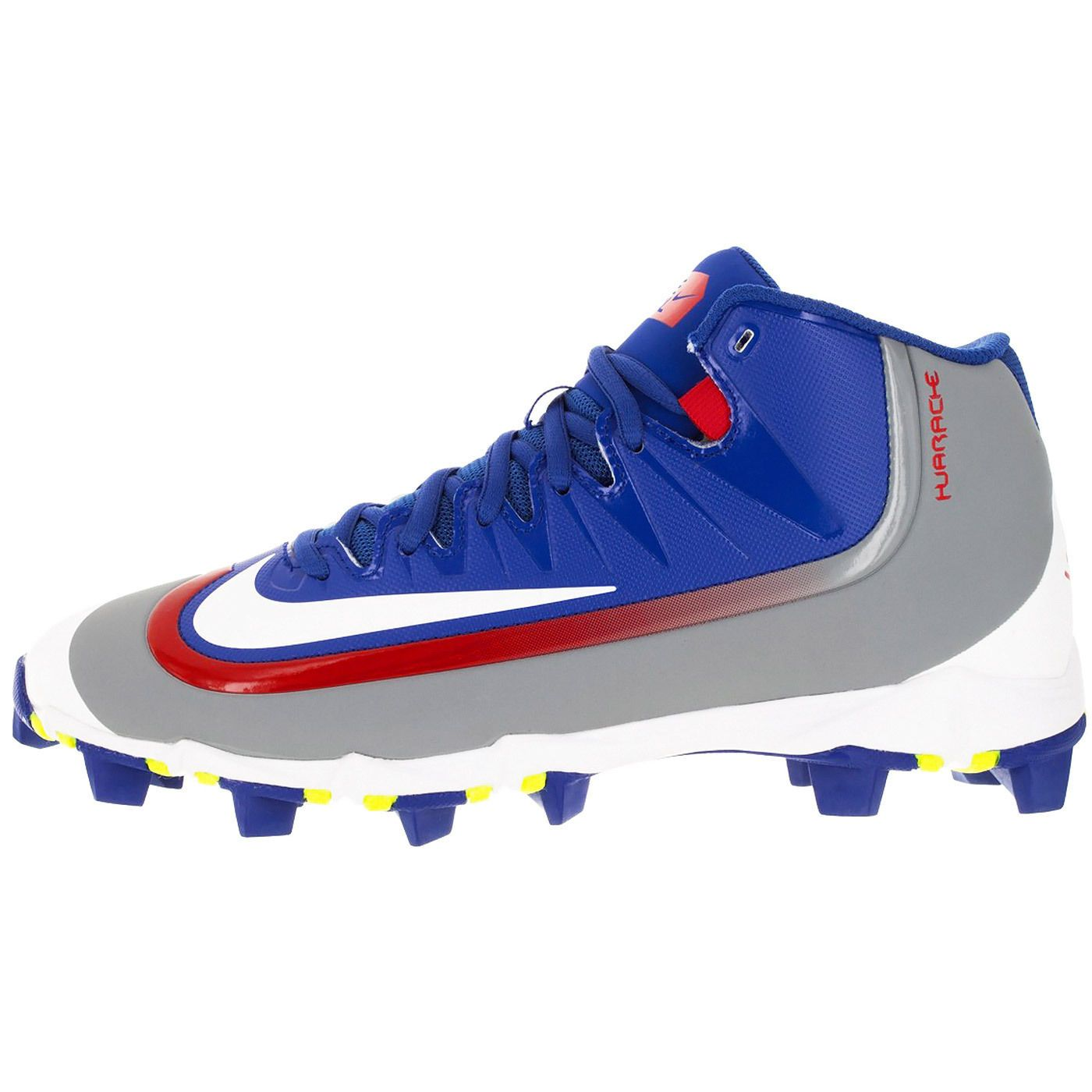 New NIKE Huarache 2KFilth Keystone Mens Baseball Cleats (Rubber) : Gray Blue  Red
