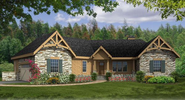 images about Craftsman Ranch style on Pinterest   House       images about Craftsman Ranch style on Pinterest   House plans  Ranch house plans and Craftsman house plans