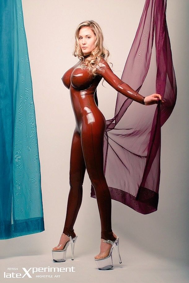 Clear latex body suits