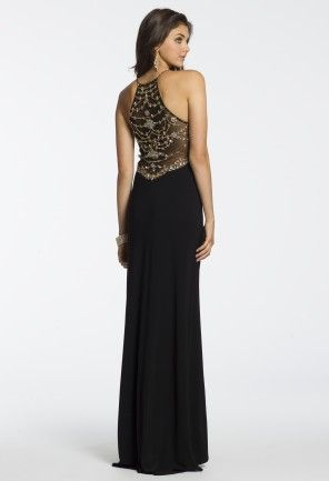 Long Jersey Illusion Back Dress from Camille La Vie and Group USA ...