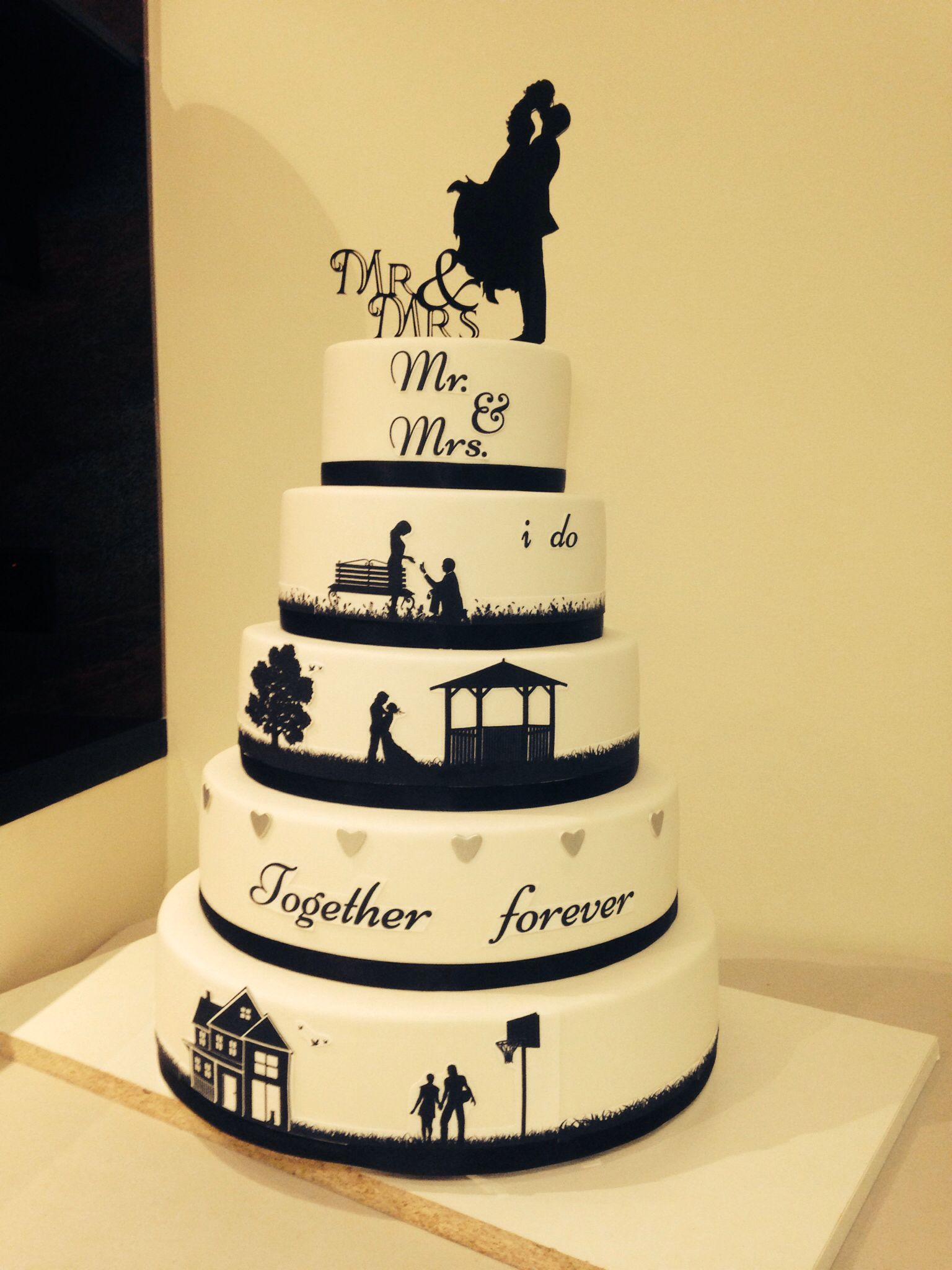 2nd silhouette cake that I have made | Sugar | Pinterest ...