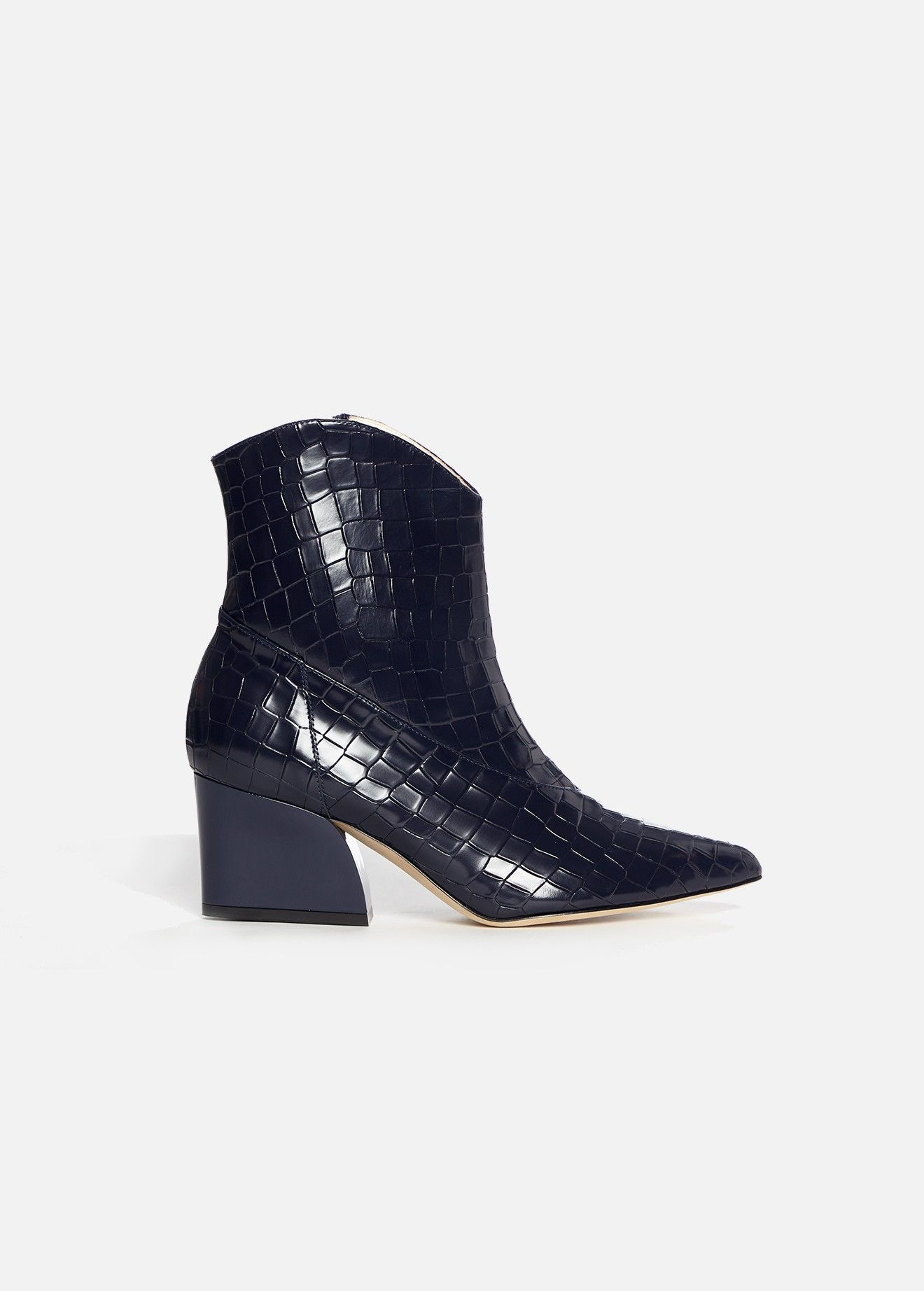 e792bf7874 These boots, made in Italy, receive an update in an elevated embossed croc.