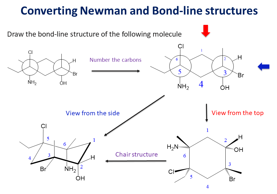 Convert Newman Projection Of Cyclohexane To Bond Line Chemistry Textbook Chemistry Lessons Study Chemistry