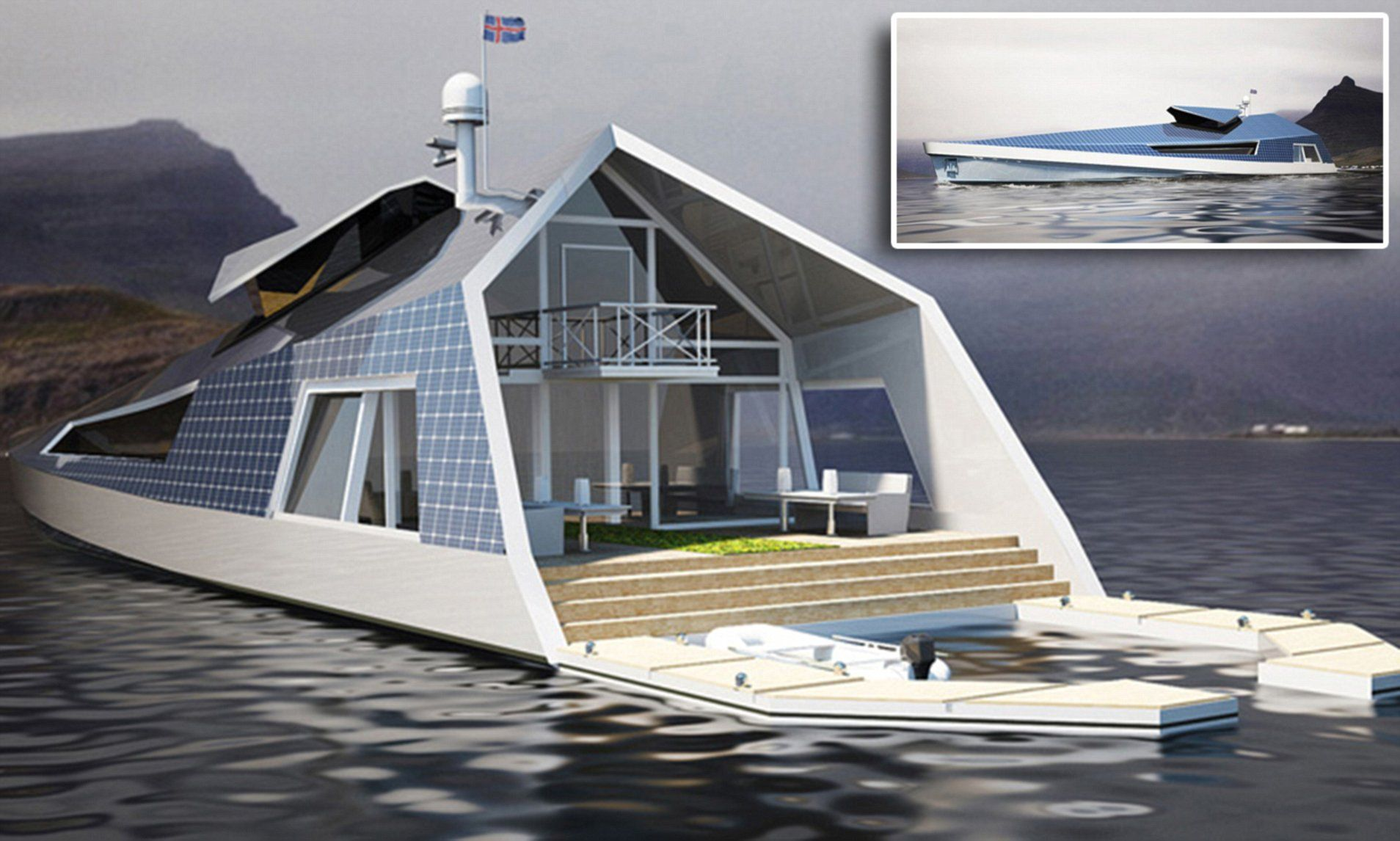 Designer unveils concept for the ultimate houseboat | House ... on future of boats, future armored vehicles, future navy boats, future space stations, future pontoon boats, future animals, future cruisers, future race boats, future boat design, future speed boats, future architecture concepts, future cargo boats, future boats yachts, future seaplanes, future atv, future technology, future townhouses, future power boats, future homes,