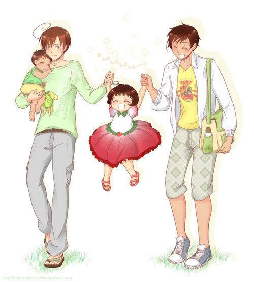 spamano children so cute~ I think that's Madrid and Rome the city or maybe Mexico