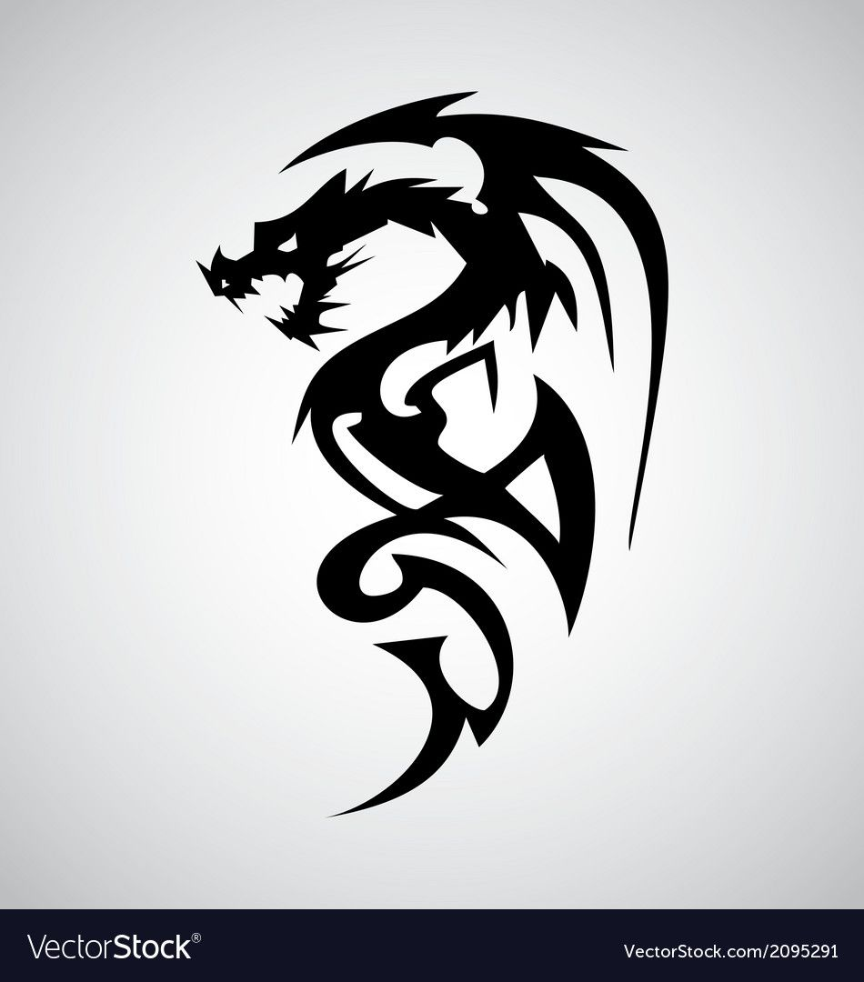 Tribal Dragon Tattoo Design Download A Free Preview Or High Quality Adobe Illustrator Ai Eps Pdf An Dragon Tattoo Dragon Tattoo Designs Tribal Dragon Tattoo