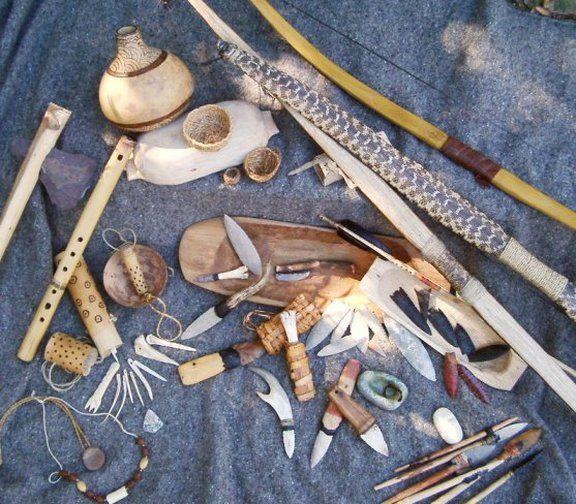 Indian Survival Skills: Bending A Bone Into A Fish Hook In General Primitive