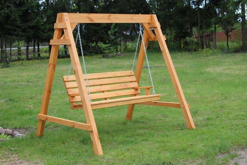 Hustawka Ogrodowa Drewniana 3 Osobowa Producent 8116451927 Allegro Pl Wooden Garden Swing Wooden Garden Diy Porch Swing