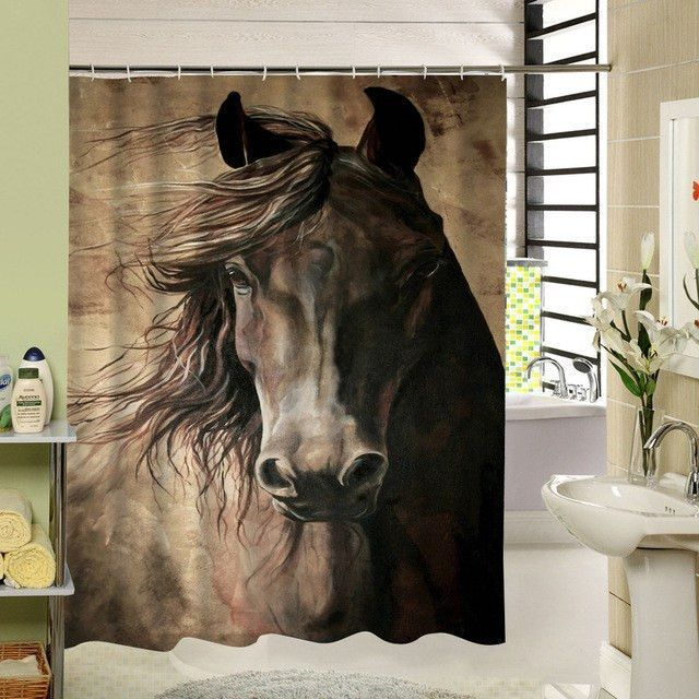 :) Horse Lovers Dream Shower Curtain Eco-friendly with SECURE-FREE-SHIPPING