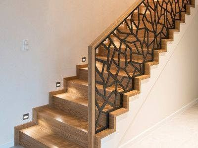 Modern Stair Railing Ideas Iron Safety Grill Design For Staircase With Images Stair Railing Design Modern Stair Railing Modern Stairs