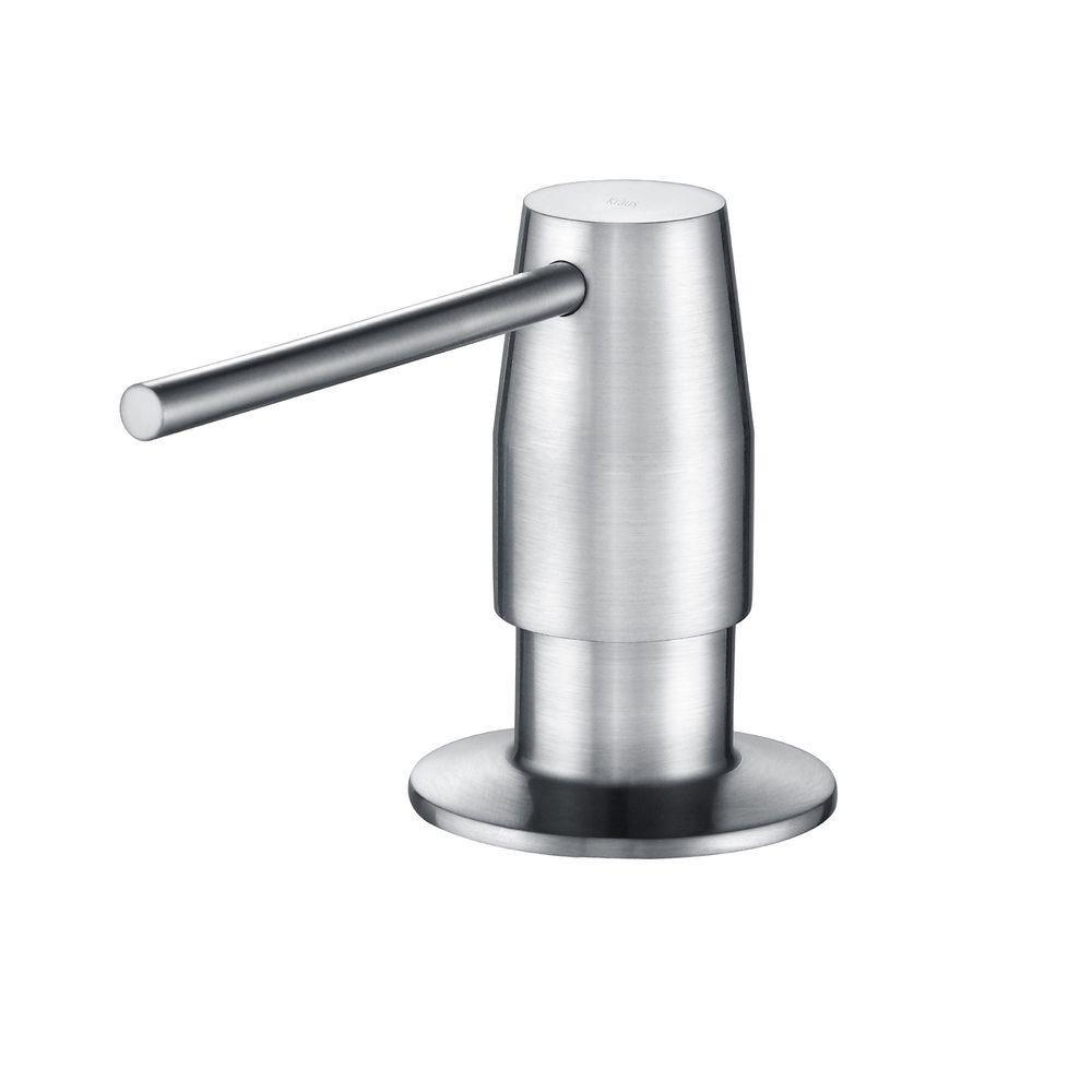 Kraus Ksd 42 Soap Dispenser In Chrome Grey Kitchen Soap Dispenser Soap Dispenser Sink Soap Dispenser