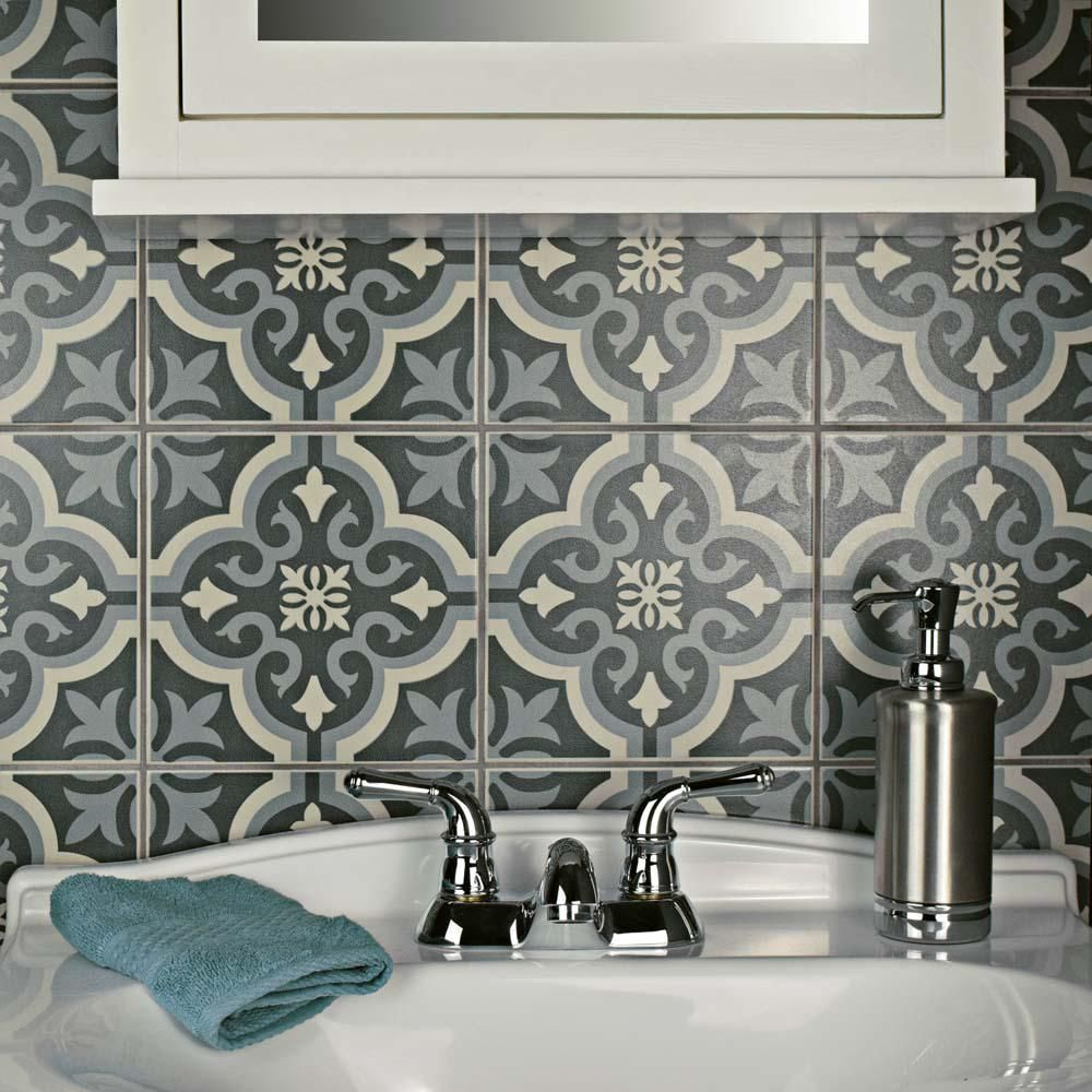 Merola tile braga black 7 34 in x 7 34 in ceramic floor and wall merola tile braga black in ceramic floor and wall tile sq dailygadgetfo Choice Image