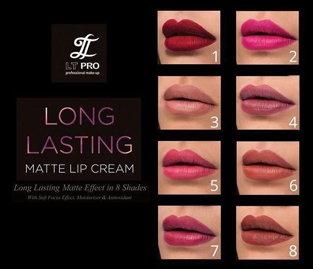 LT PRO Long Lasting Matte Lips Cream Dengan Pilihan 8