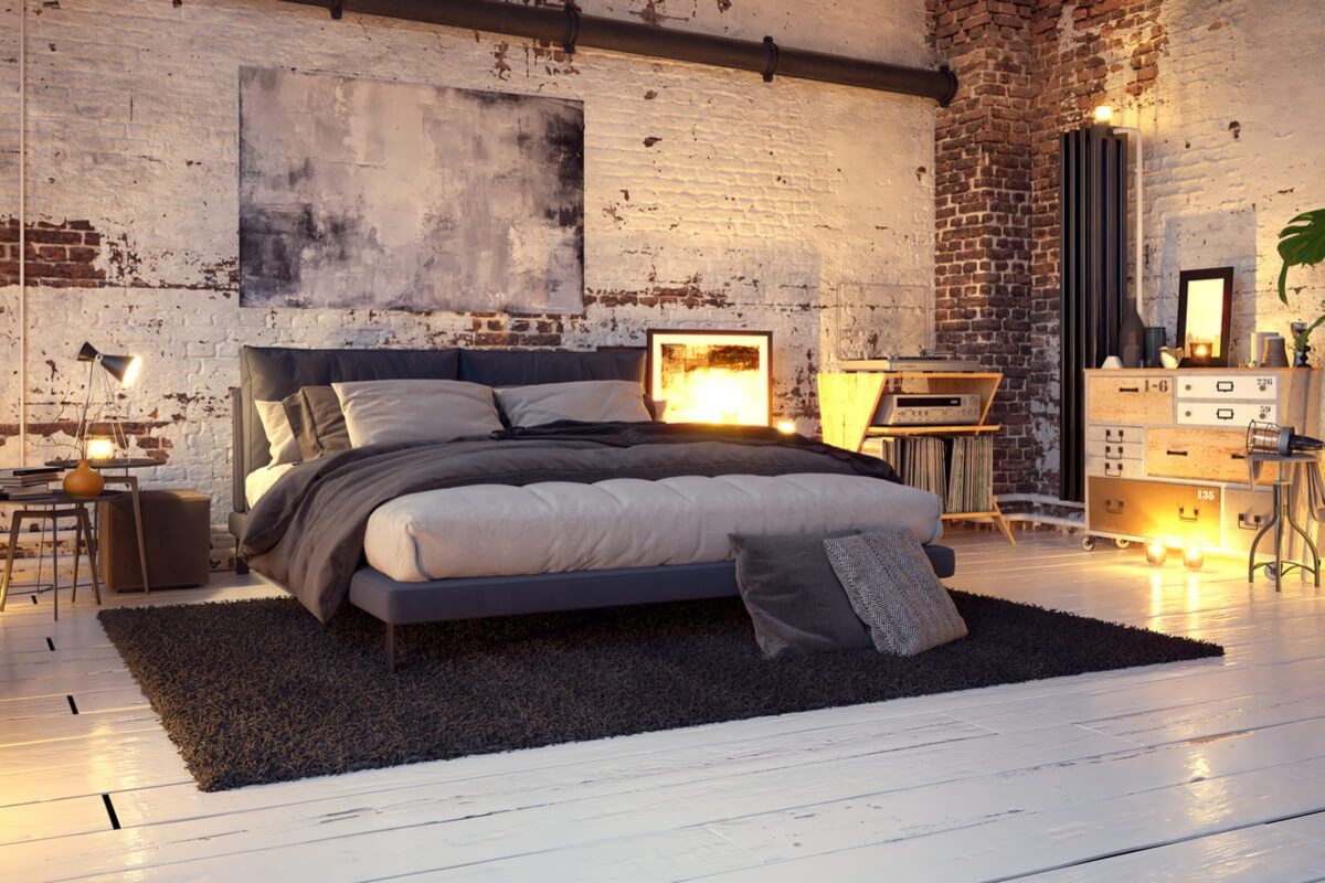 Einrichtungsideen Fur Dein Schlafzimmer In 2020 Industrie Loft Wohnung Wohnideen Schlafzimmer Wohnzimmer Design