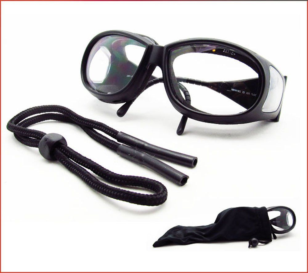 dc43989254e08 ANSI Z87 Foam Padded Motorcycle Fitover Glasses Over Glasses with Side  Shields - Free Sunglass Strap and Large Microfiber Cleaning Case.