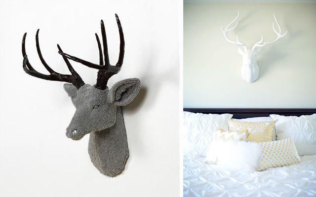 decoracion-paredes-cabezas-ciervo-05 Papel mache Pinterest - decoracion de paredes