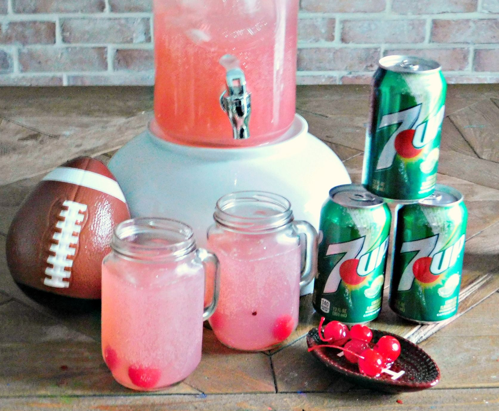 7UP Party Punch #footballpartyfood