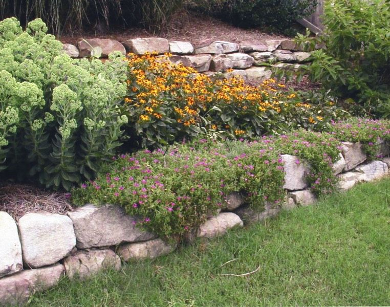 Small boulder walls Landscaping with rocks, Rock wall