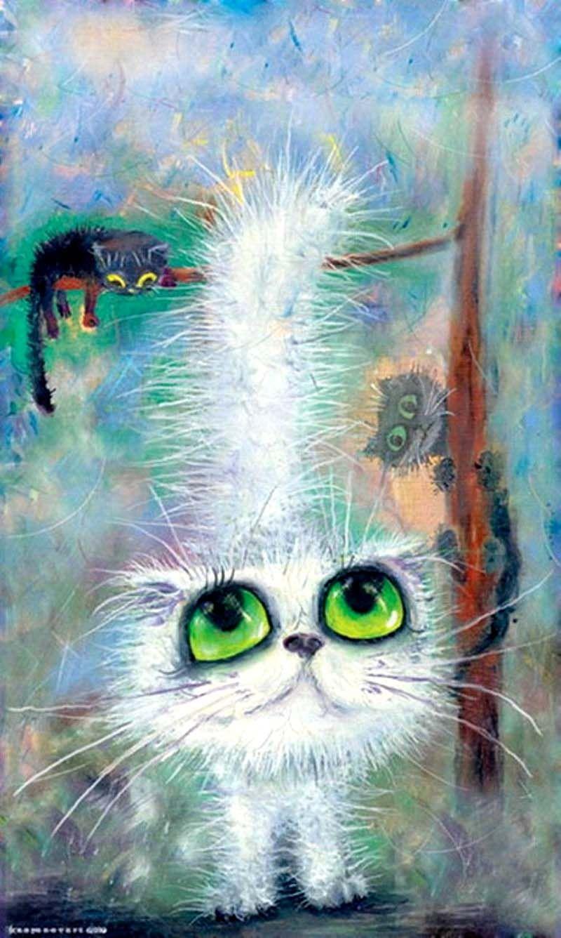 Картинки, нарисованные картинки котят прикольные