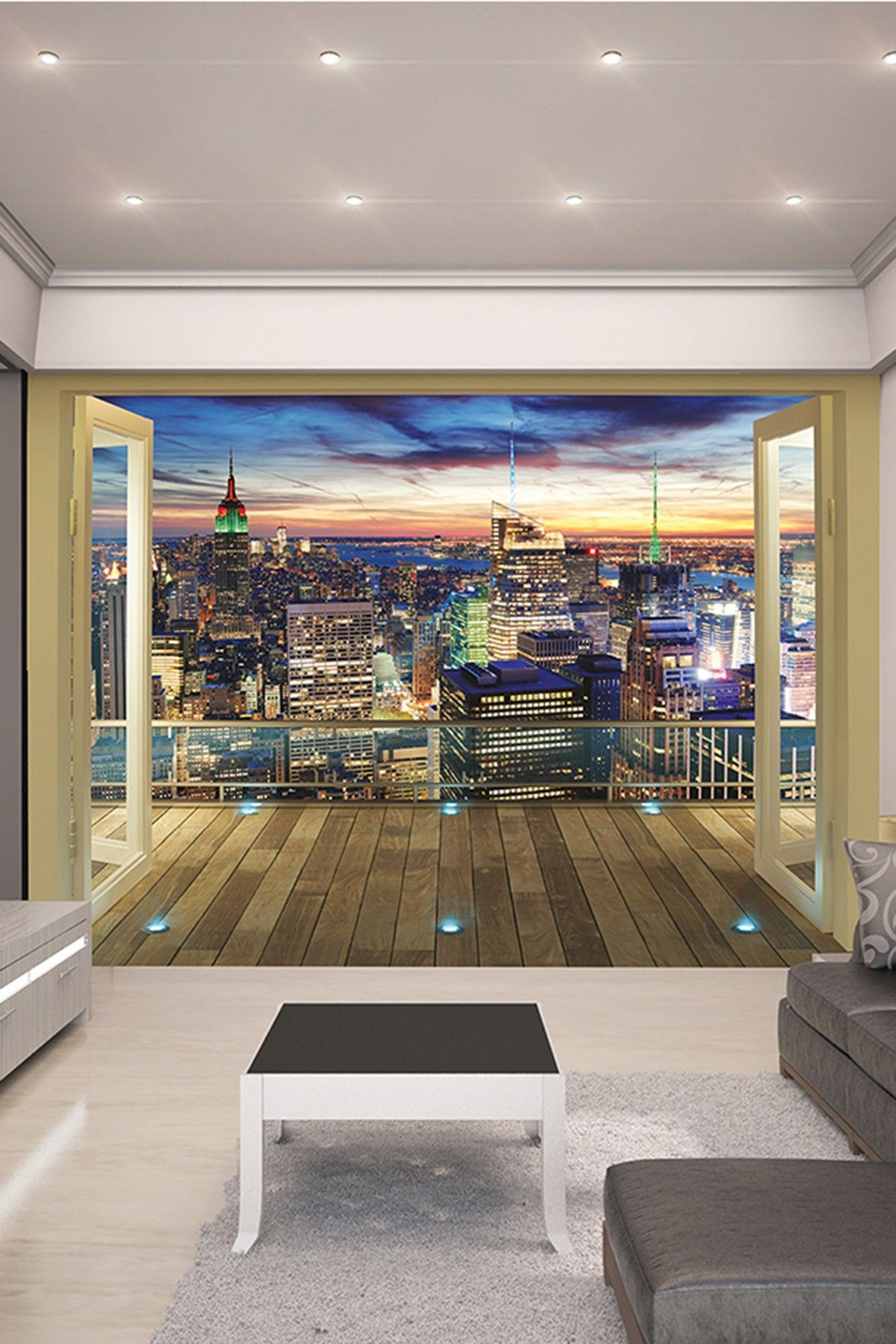 Brewster Home Fashions New York City Skyline Wall Mural
