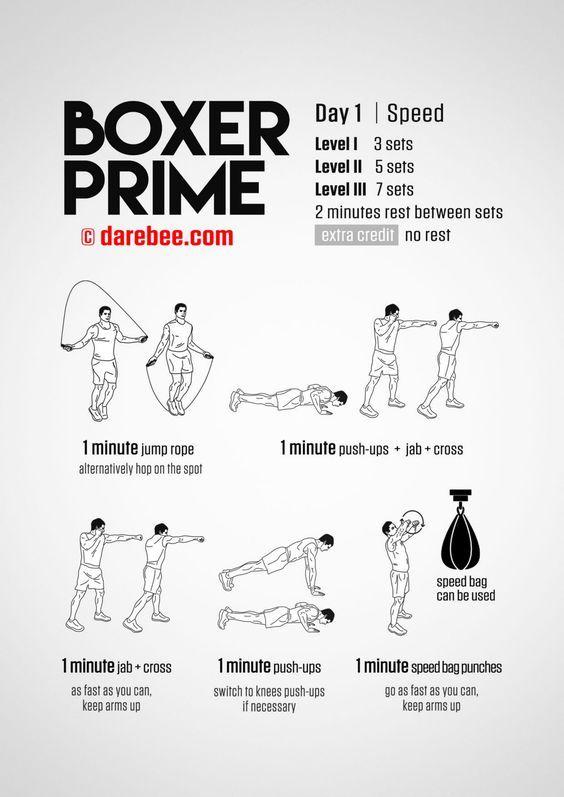 Boxing Week Speed Workout Mma Workout Boxing Training Workout