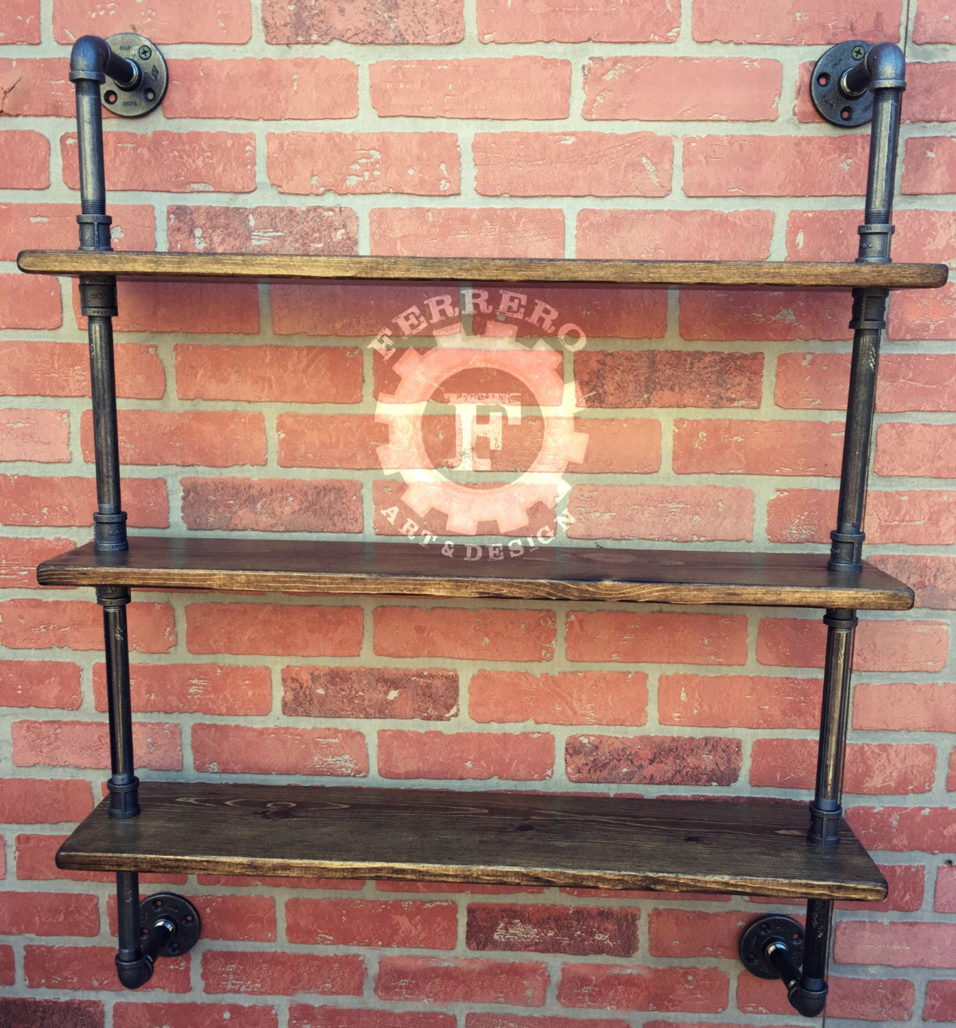 Steampunk Wall Shelves Industrial Sheving Wall Shelves Industrial Shelf Pipe