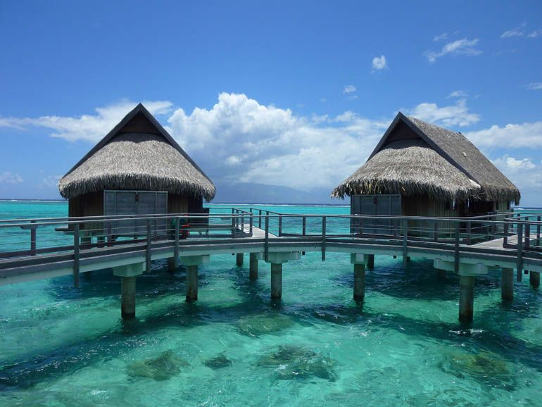 Overwater Bungalows At The Sofitel Moorea Ia Ora Beach