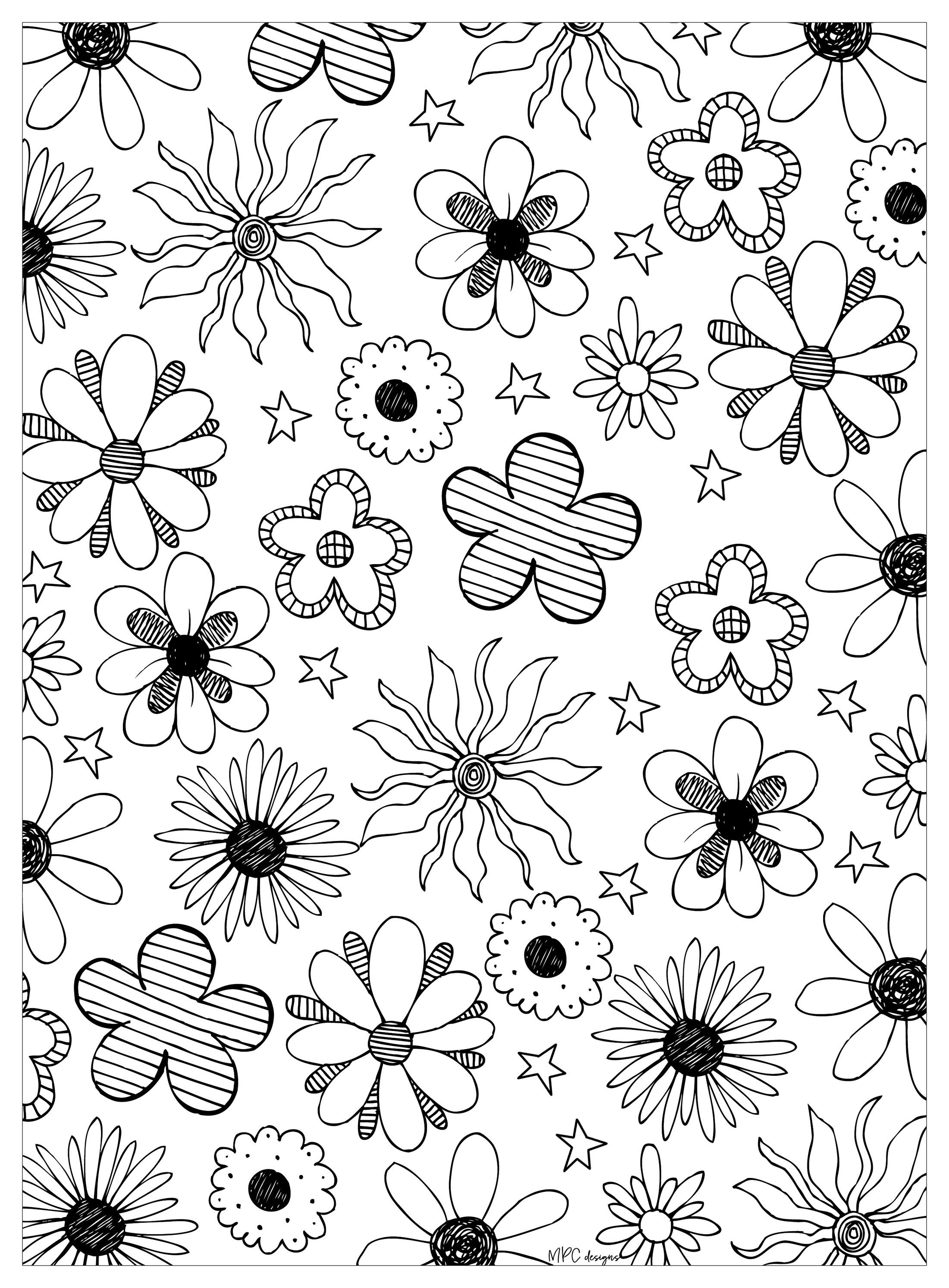Here are Coloring pages inspired by the beauties of nature ...