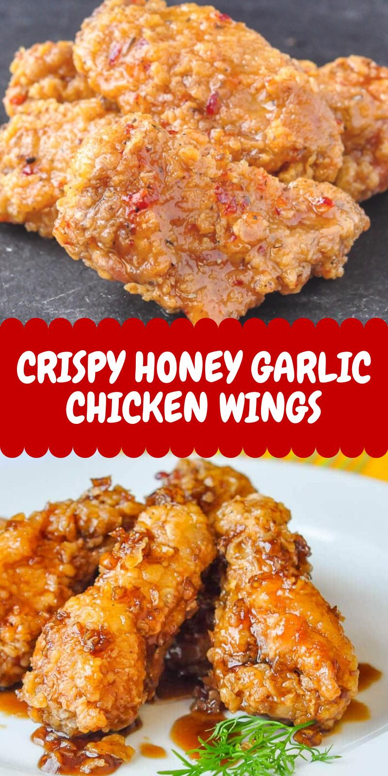 Easy Crispy Honey Garlic Chicken Wings Chicken Dinner Recipes Chicken Recipes Chicken Wing Recipes