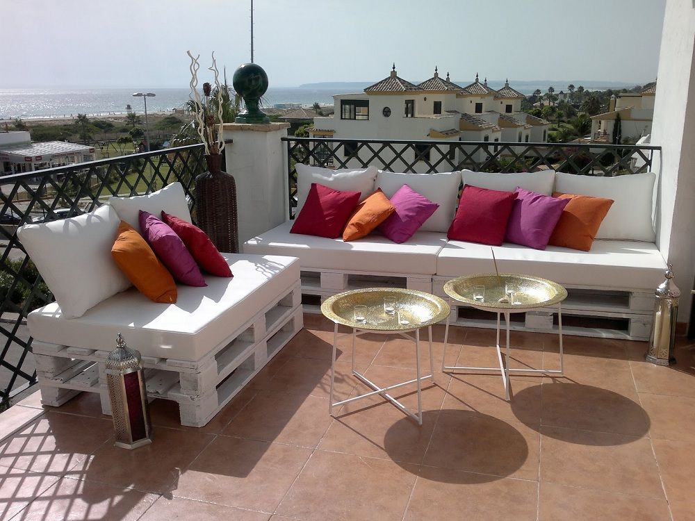 sofs hechos con palets para jardn y terraza