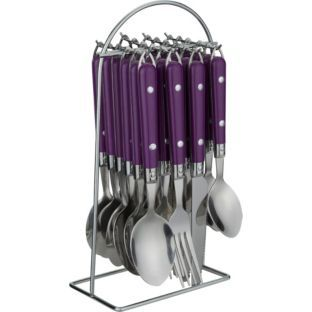 Buy Colourmatch 24 Piece Hanging Cutlery Set Purple Fizz