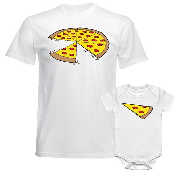 Two Slices Missing Pizza Father Twin Daddy Dad Two Son Daughter Matching T shirt