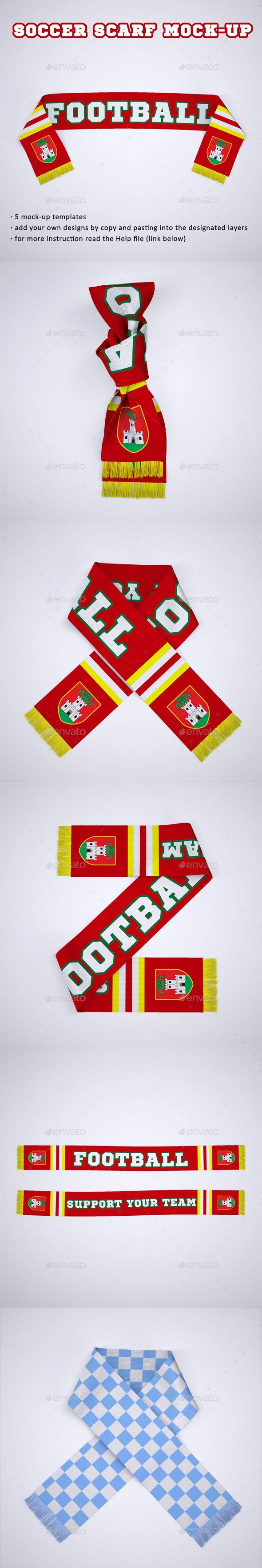 Download Soccer Football Fan Scarf Mock Up Business Card Logo Mockup Design Box Mockup