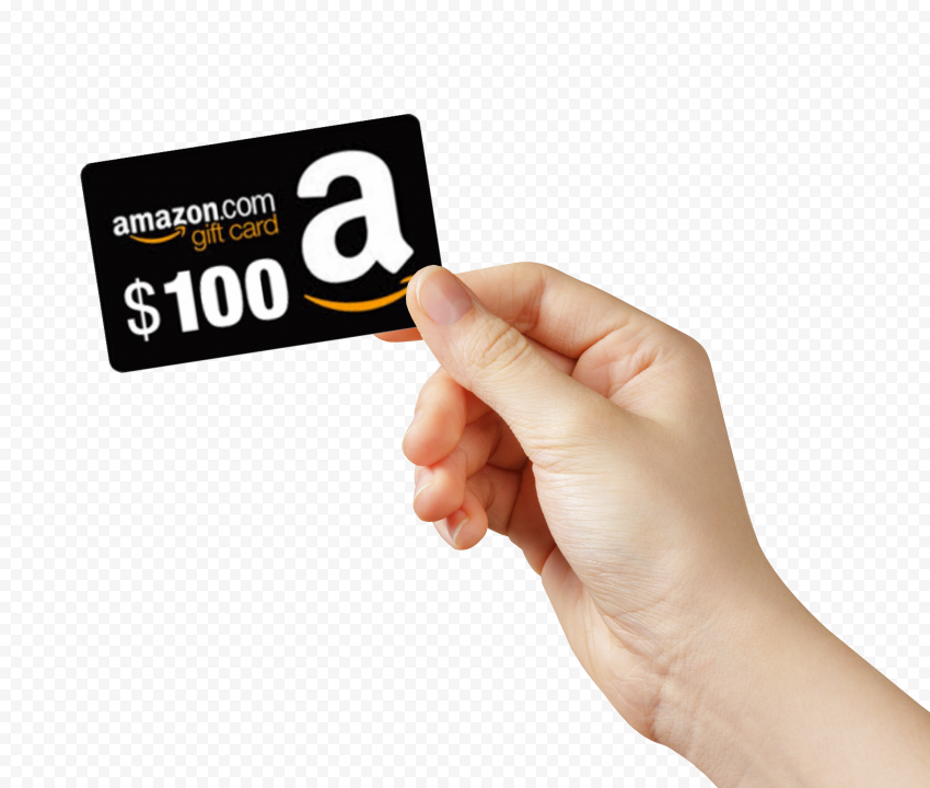 Woman Hand Hold Amazon 100 Gift Card Gift Card Cards Gifts