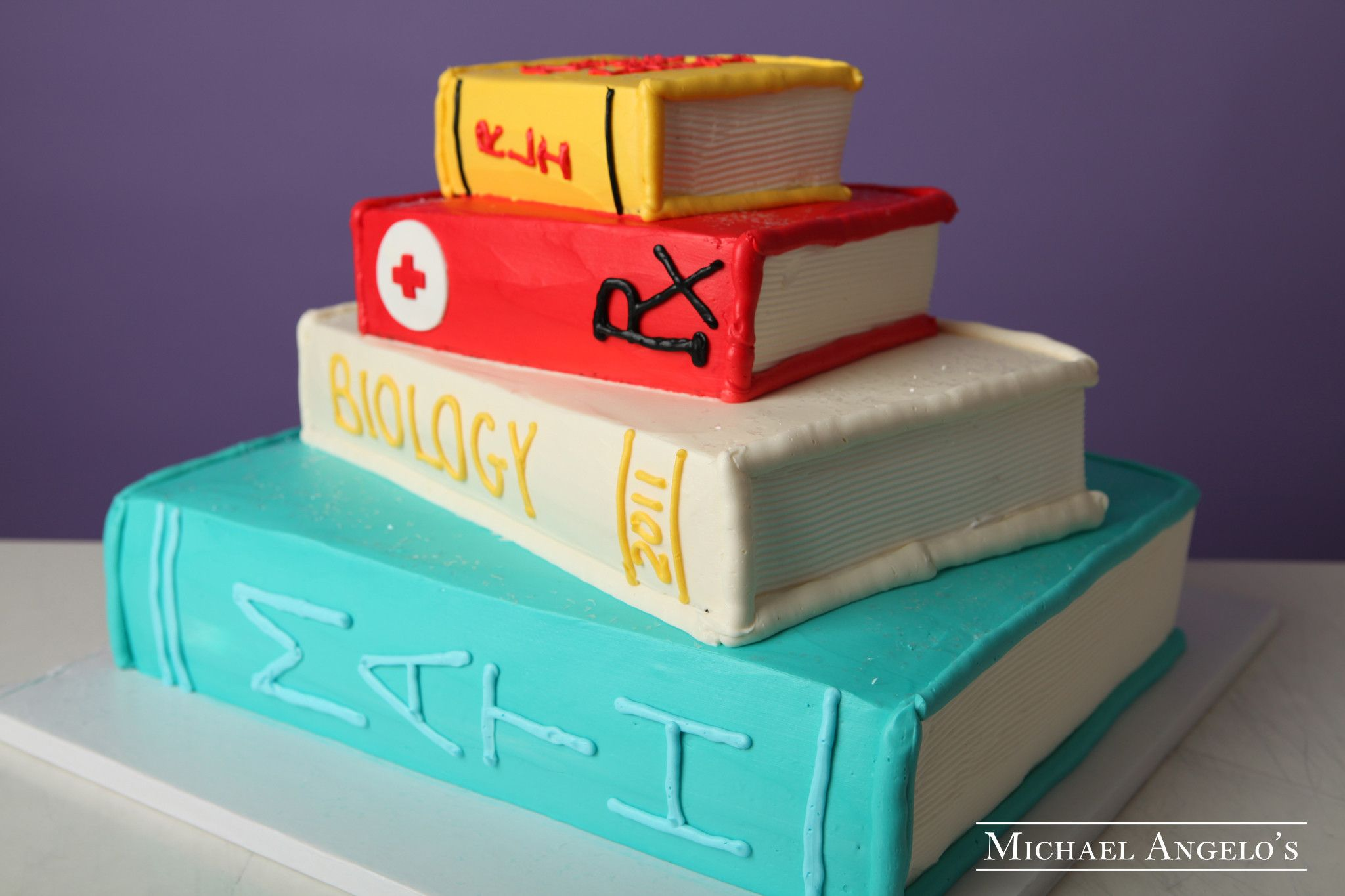 Cake Decorated Like Books : School Books #43Graduation This cake is made in the shape ...