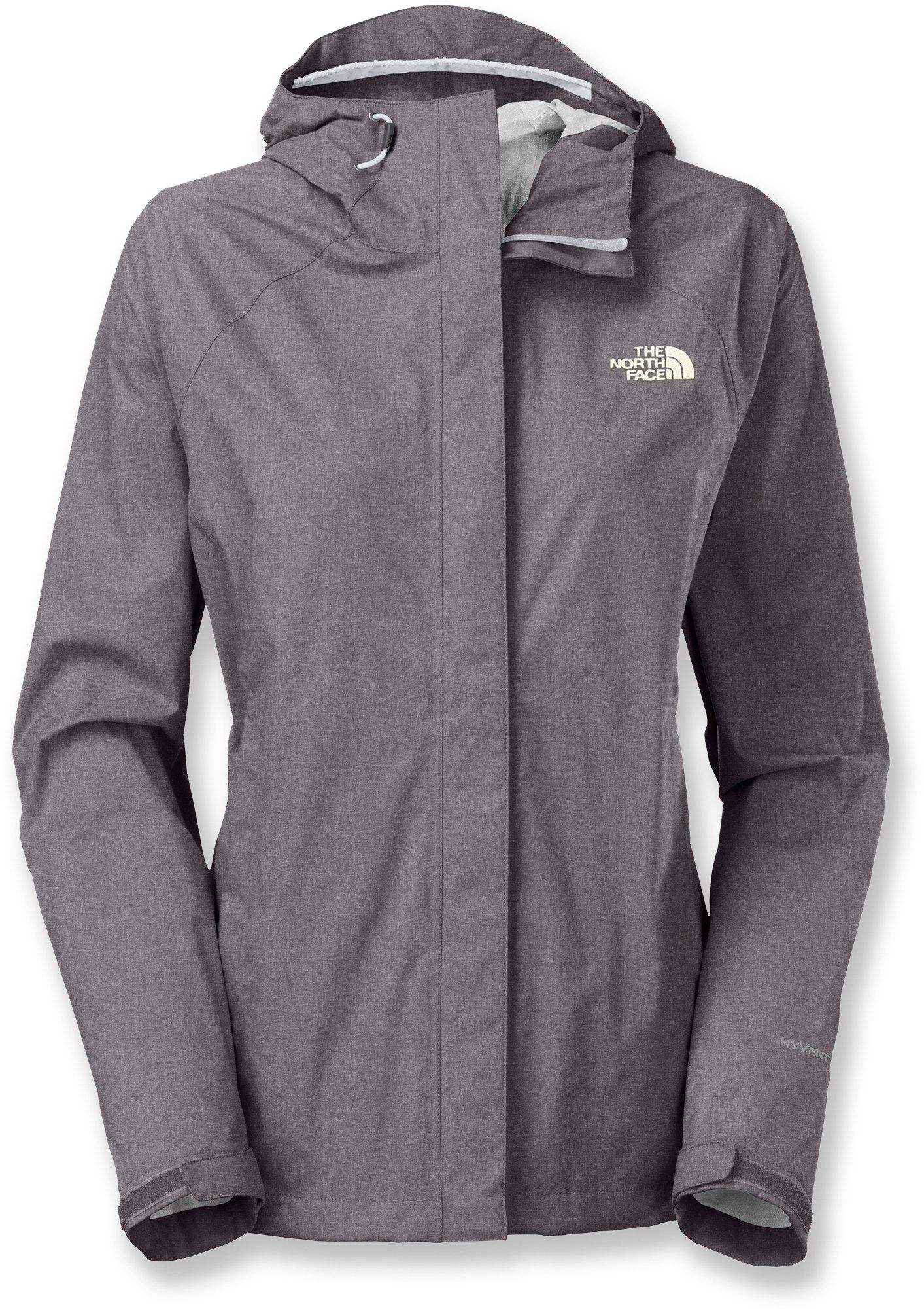 The North Face Women's Venture Rain Jacket Rabbit Grey Heather M ...