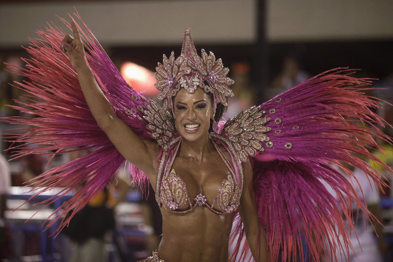 Pretty Pink Brazilian Samba Costume With Shoulder Back Piece Rio