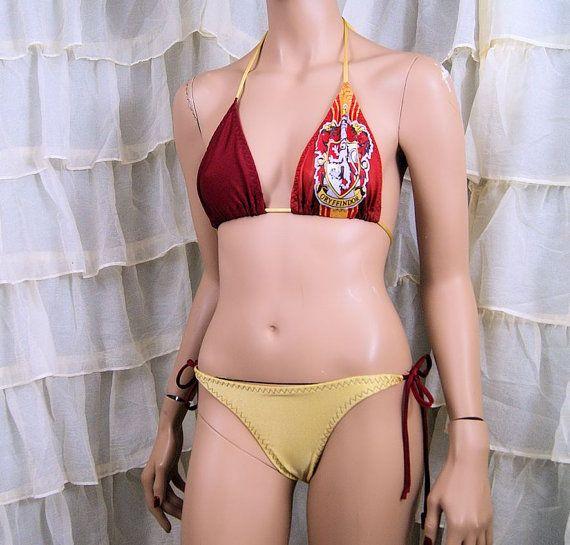 Womens Harry Potter Swimsuit Ladies Hogwarts Gryffindor Girls Swimming Costume