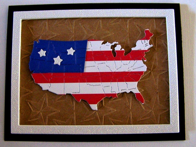 Frantic Stamper Precision Die - USA Map (set of 3 dies)