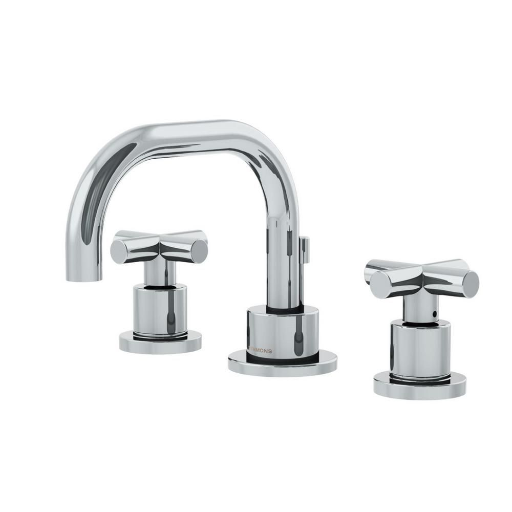 Symmons Dia 8 In Widespread 2 Handle Low Arc Bathroom Faucet With Cross Handles In Chrome Slw 3522 H3 1 0 The Home Depot Widespread Bathroom Faucet Bathroom Faucets Symmons [ 1000 x 1000 Pixel ]